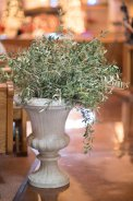 Urn filled with olive