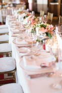 Long tabled lined with candles and florals