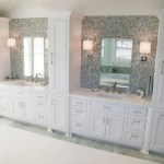 Double Vanity Linen Towers Ideas Pictures Remodel And Decor Bathroom Layjao