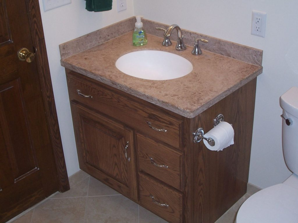 Handmade Custom Oak Bathroom Vanity And Linen Cabinet Jeffrey Layjao