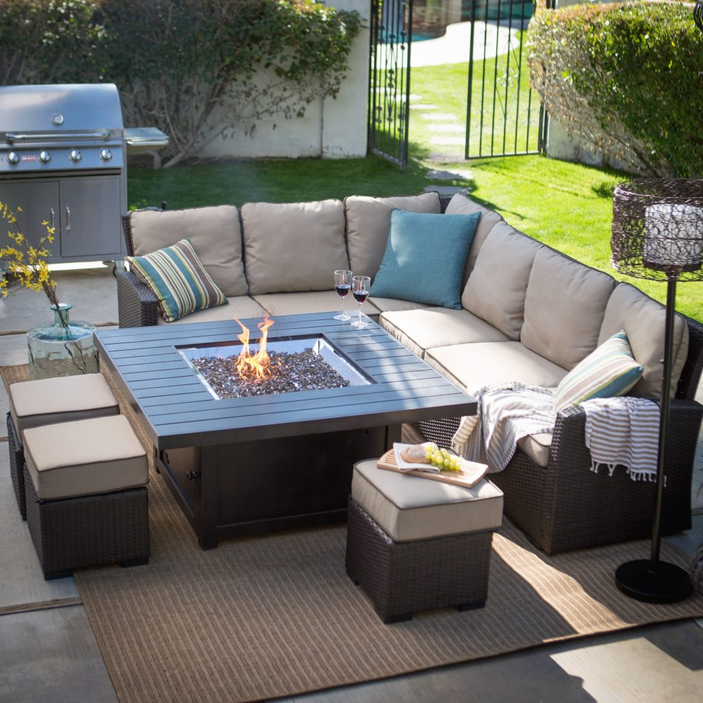 outdoor furniture with fire pit layjao