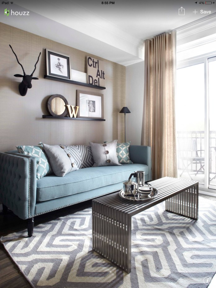 Duck Egg Sofa With Soft Grey Carpet And Linen Sheers Sofas In Layjao
