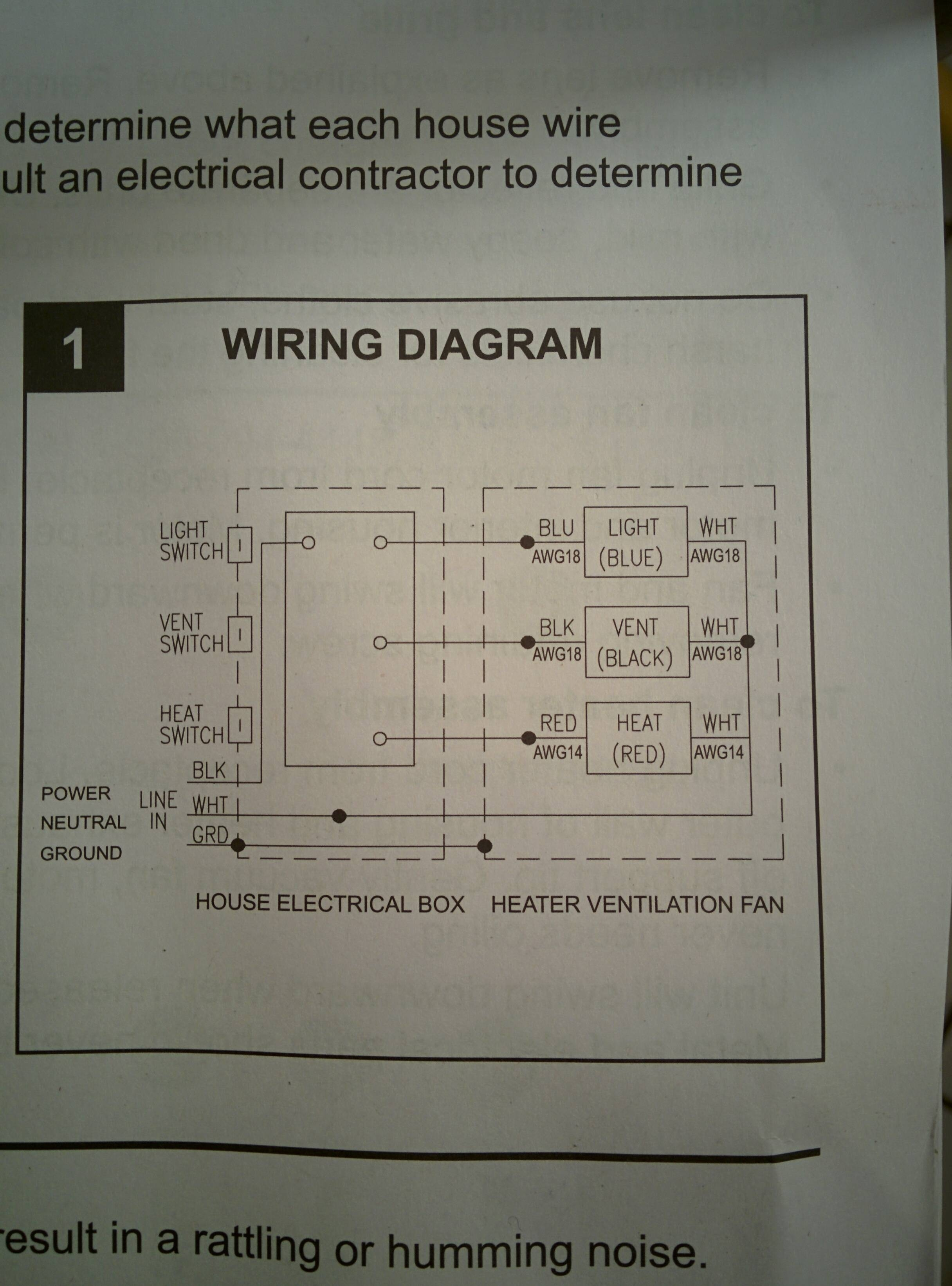 How To Wire A Bathroom Exhaust Fan With Light And Heater : bathroom, exhaust, light, heater, Electrical, Wiring, Bathroom, Exhaust, Heater, Layjao