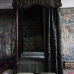 Black Gothic Canopy Bed Layjao