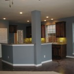 Kitchen Wall Color For Dark Kitchen Cabinets With Charming Gallery Layjao