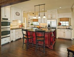 Barn Red Kitchen Cabinets / Paint Kitchen Country Ideas ...