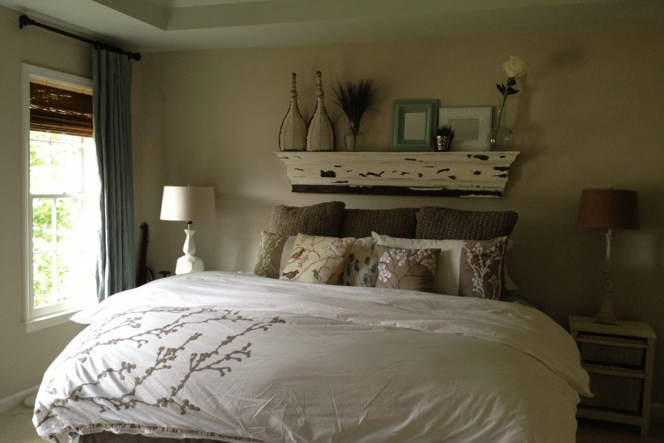 bed with no headboard decorating ideas