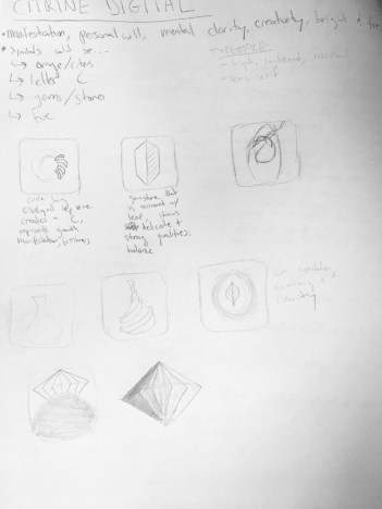 initial notes and sketches