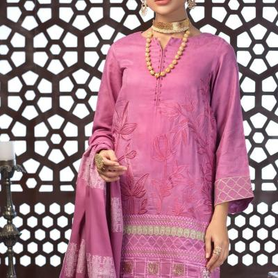 Salitex Jacquard Embroidered Unstitched 3 Piece Suit ST19-302