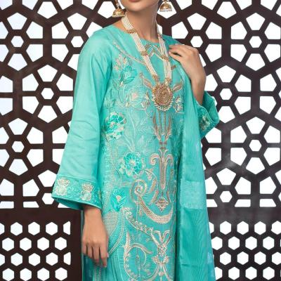 Salitex Jacquard Embroidered Unstitched 3 Piece Suit ST19-305