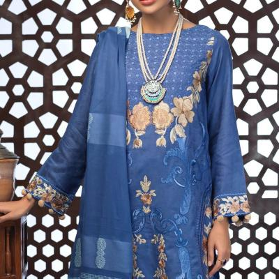 Salitex Jacquard Embroidered Unstitched 3 Piece Suit ST19-307