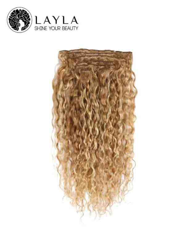 Vietnamese Blonde clip in straight hair 24''