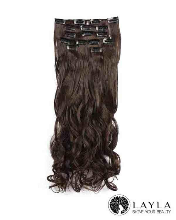 Vietnam curly hair extensions dark brown color hair