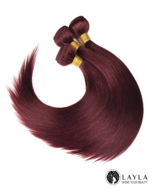 """Red Color Double Drawn Weft Hair 24"""""""