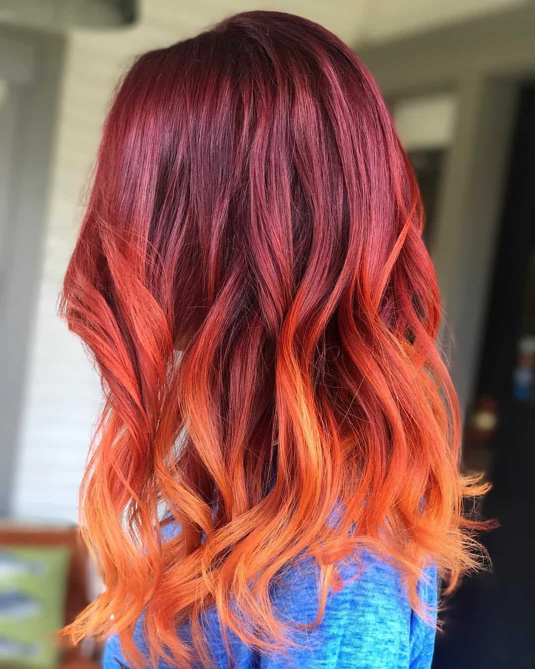 Styling-Hair-For-Your-Red-Ombre-Hair