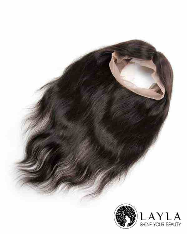 16 Inch Human Remy Vietnamese Hair 360 Lace Frontal