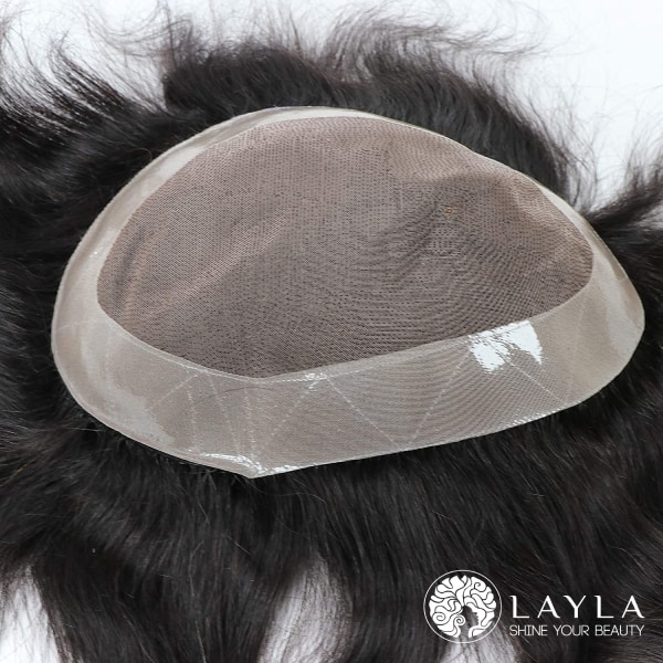 8 inch Virgin Human Hair Toppers or Toupee for Mens