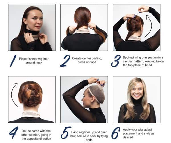 Preparation-to-put-on-a-wig-cap