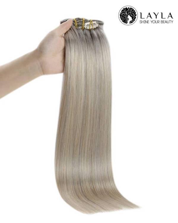 Vietnamese Ash blonde hair extensions