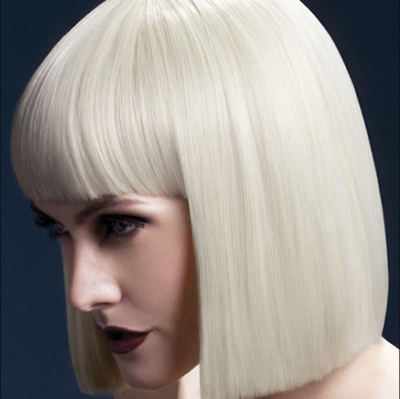 Human Platinum Blonde Bob Wig
