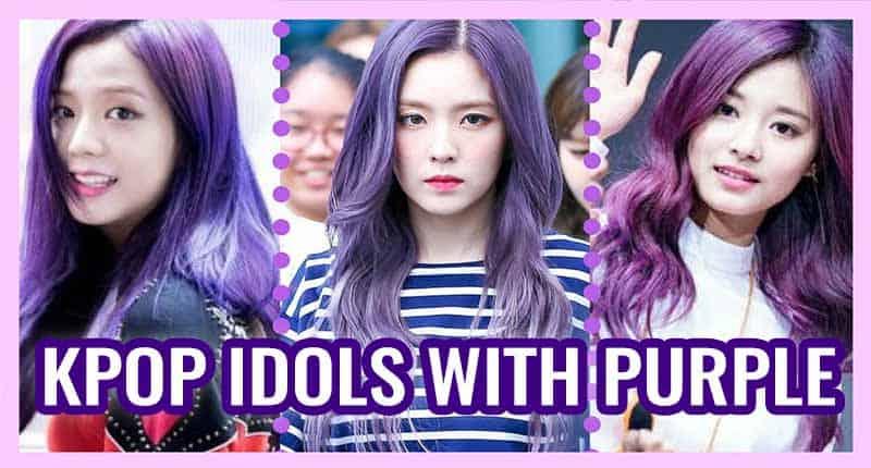 These 8 K-Pop Idols Rock Purple Hair In Really Fantastic Ways!