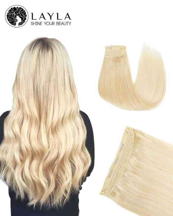 Halo Hair Extensions Real Hair #Blonde