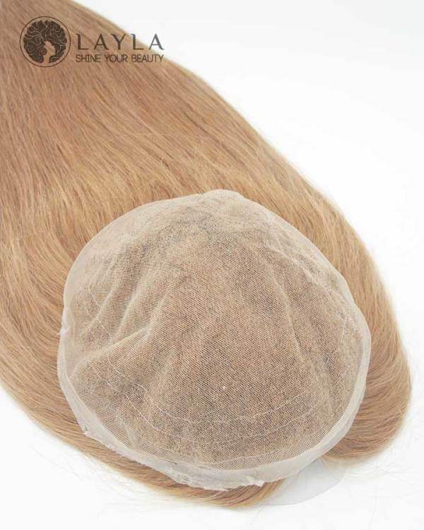 9x9 Brown Topper HD Lace Real Hair