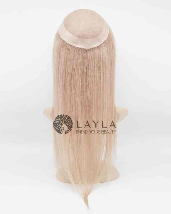 Blonde Clip in Straight Hair Topper Extensions