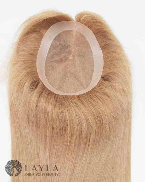 7x9 Brown Hair Topper Mono Base