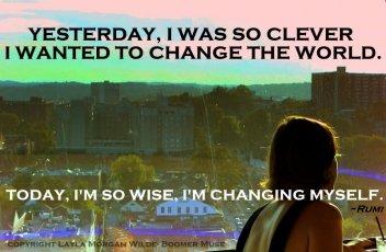 change the world quote -rumi