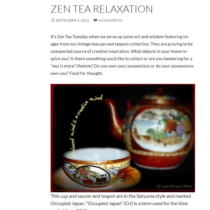 vintage Japanese teapot zen 2012
