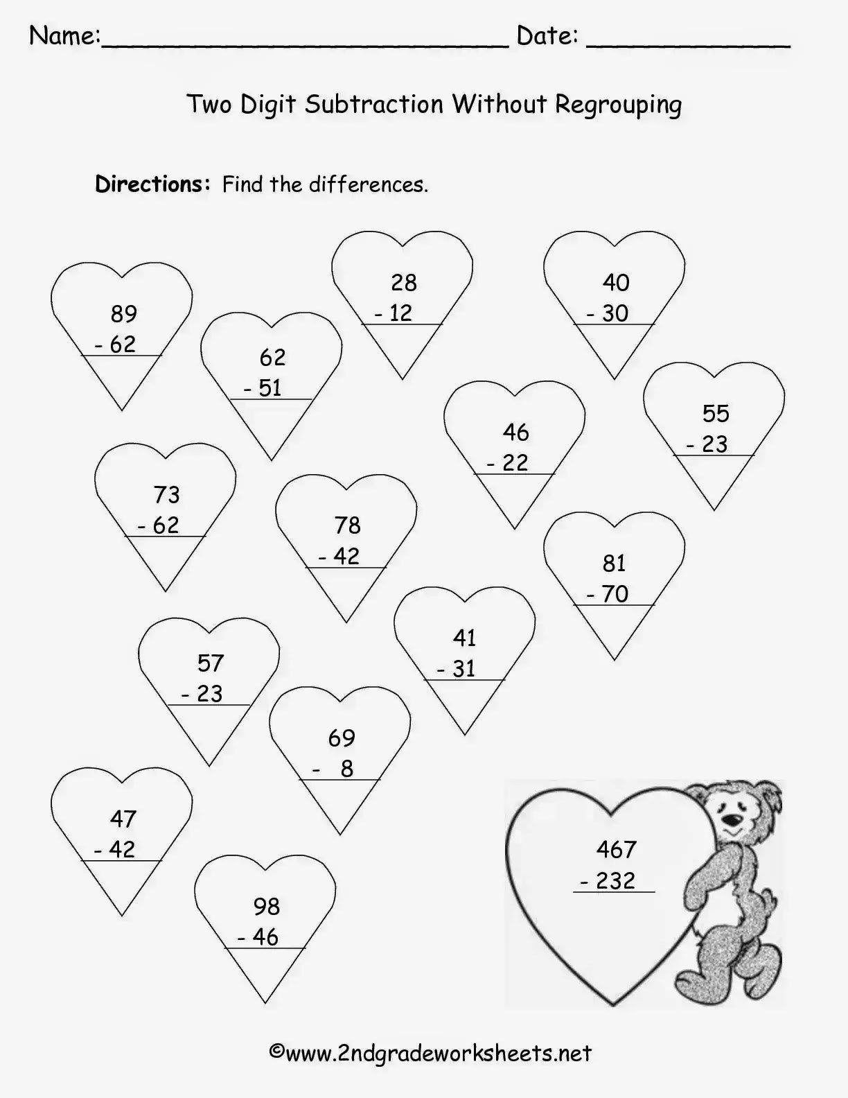30 Fun Subtraction With Regrouping Worksheets