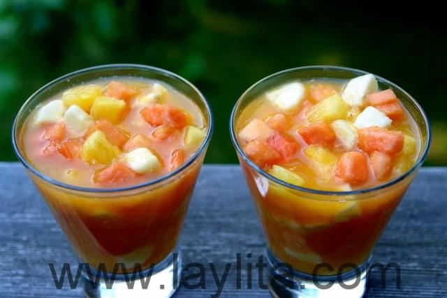 Come y bebe o ensalada de frutas  Recetas de Laylita