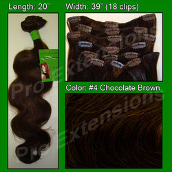 #4 Chocolate Brown – 20 inch Body Wave