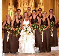 Bridesmaids dresses in beautiful fall colors