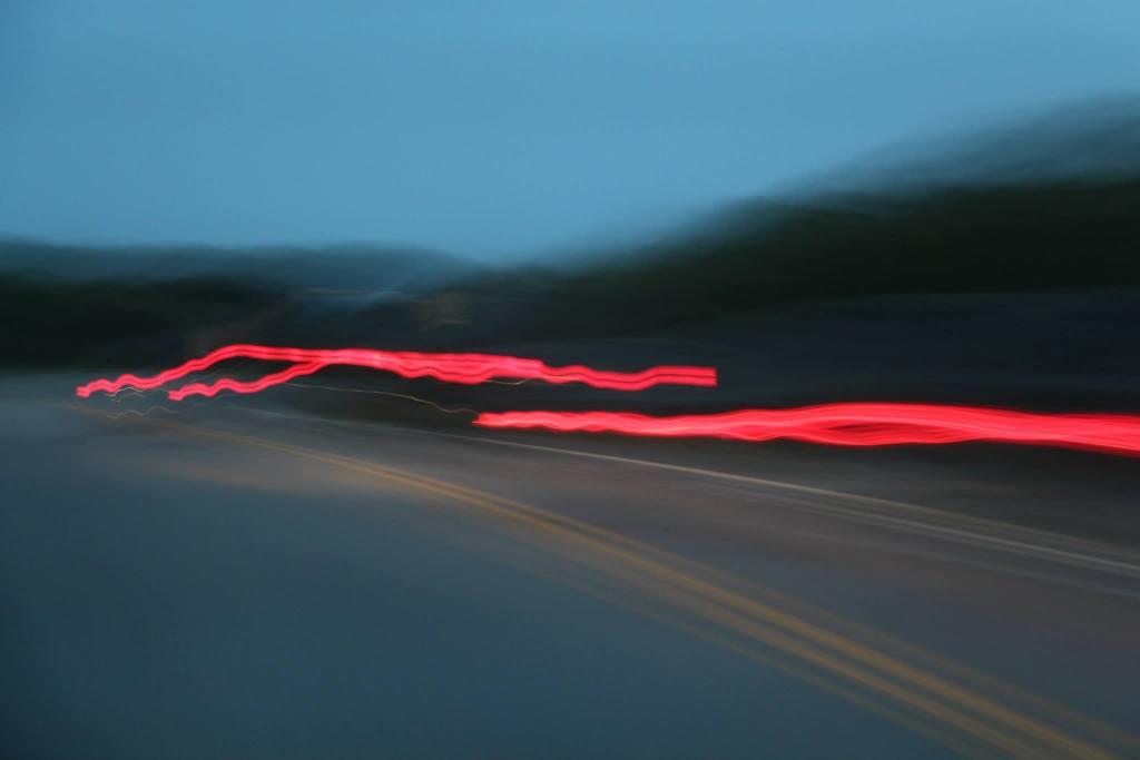 blurred street