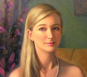 Image of a fine art oil portrait of Amelia by artist Layne Johnson
