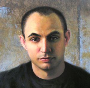 Image of a fine art oil portrait of Stefan by artist Layne Johnson