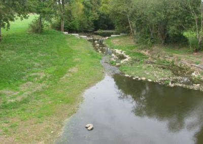 Abaissement du barrage, Le Layon à St Georges-sur-Layon
