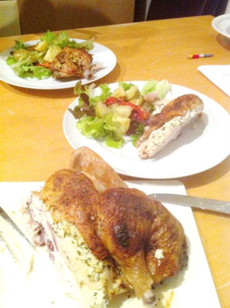 RecipeShed: Herby Goats Cheese-Stuffed Spatchcock Chicken, Lay The Table