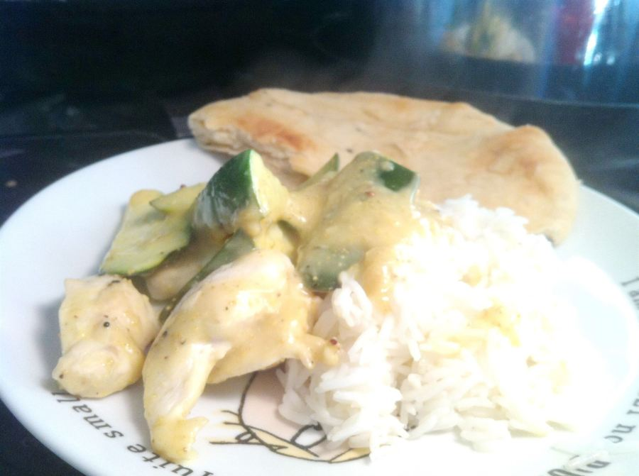 Bengali Creamy Coconut Chicken with Courgettes, Lay The Table