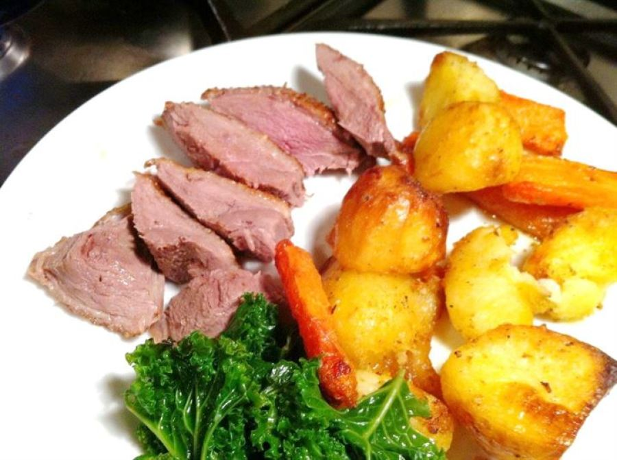 Roast Crown of Goose with Citrus Gravy, Lay The Table