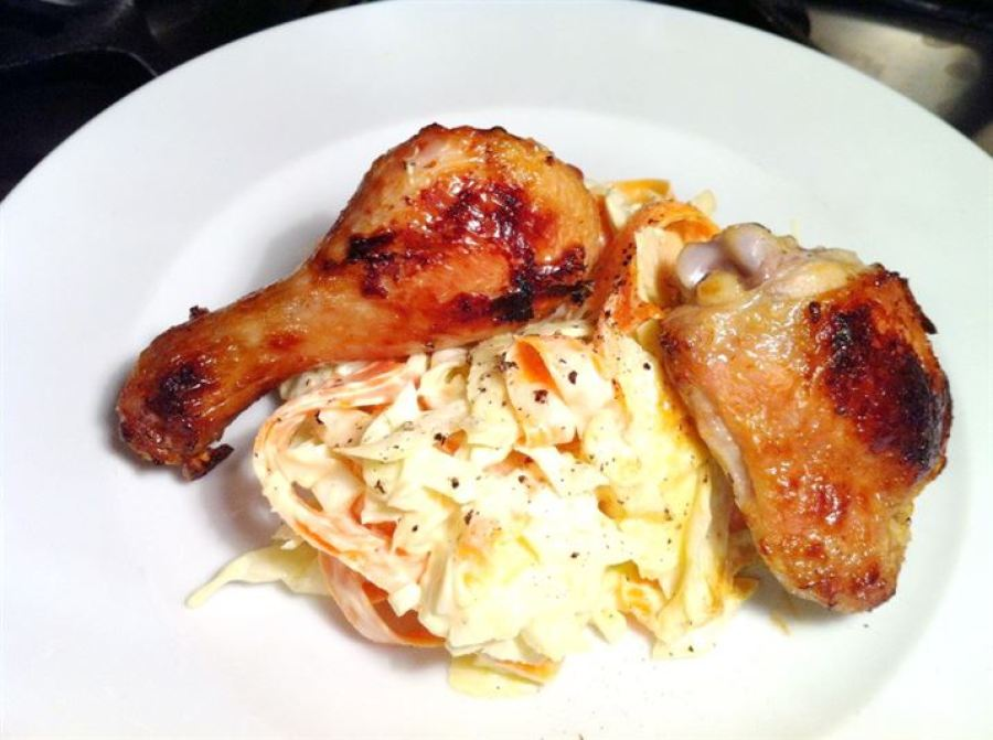 Buttermilk Baked Chicken with Fennel & Apple Slaw, Lay The Table