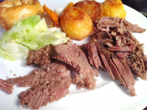 British Beef: My Wifes Pot Roast Beef Topside, Lay The Table