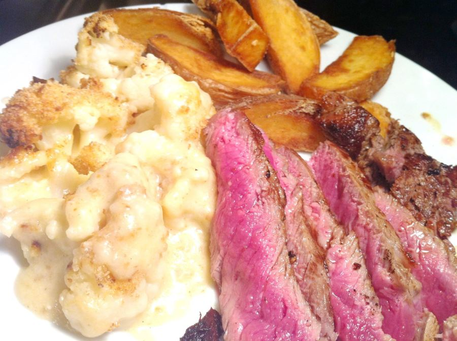 Perfect Cauliflower Cheese Bake with Cote de Boeuf Steak, Lay The Table