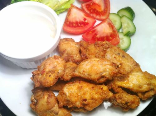 Deep-Fried Piri Piri Chicken Wings with Dolcelatte Dip, Lay The Table