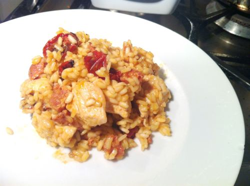 Chicken, Chorizo and Roast Tomato Risotto, Lay The Table