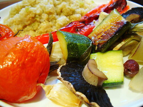 How To Make Mediterranean Roast Vegetables With Quinoa, Lay The Table