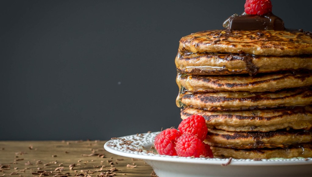 Clean Eating Pancakes with Chocolate and Raspberries, Lay The Table