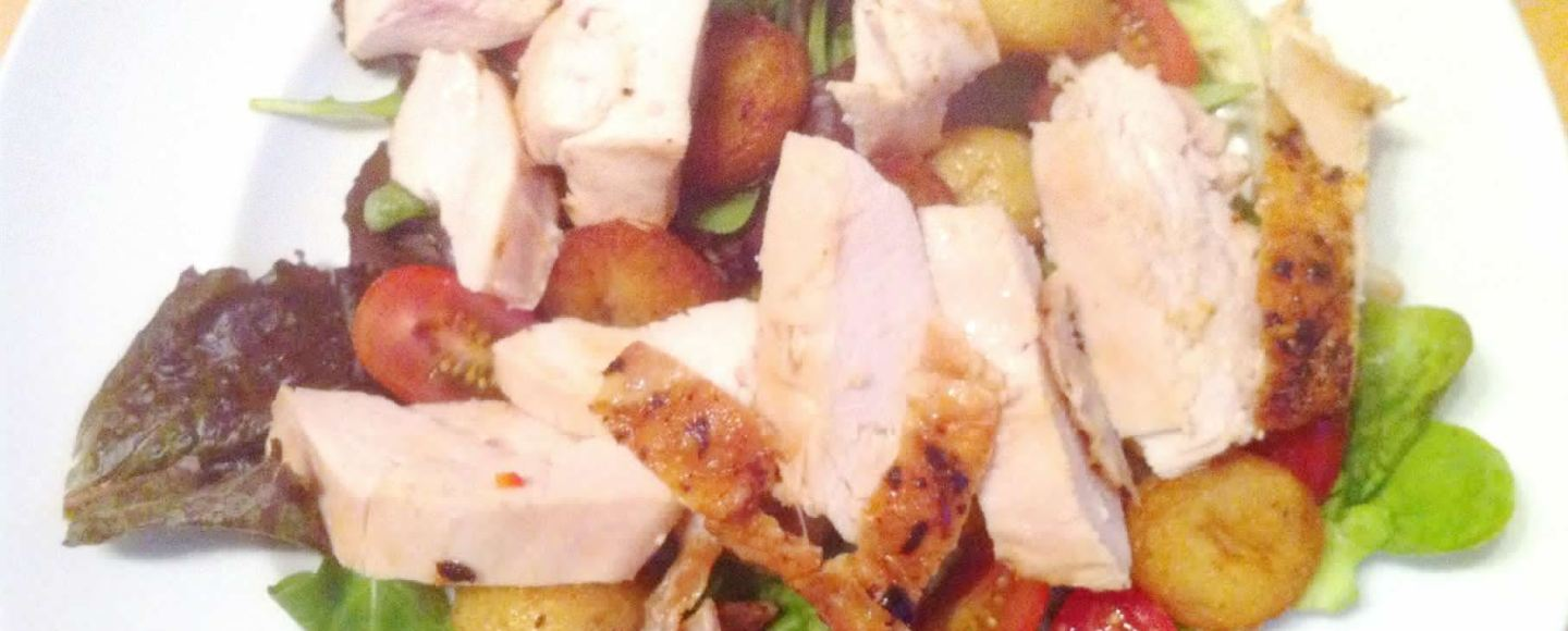Sous Vide Chicken with Chilli Butter Crunchy Potato Salad, Lay The Table